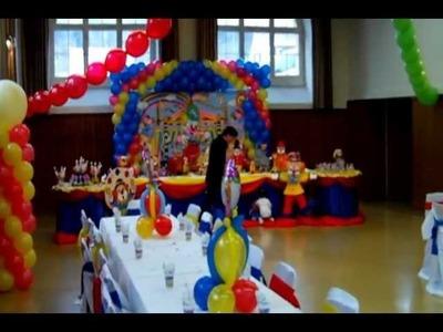 Circus Decoration Decoração do Circo by Carmen PartyforKids Switzerland