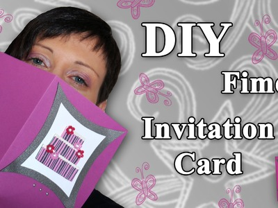 FIMO Karte: Polymer Clay Invitation Card - Tutorial [HD.DE] (EN-Sub)