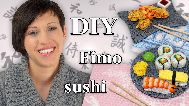 FIMO Sushi: Polymer Clay 寿司 - Tutorial [HD.DE] (EN-Sub)