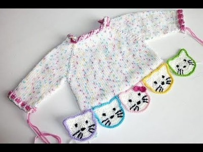Stricken * Hello Kitty Babypulli * Teil 5 * Ausarbeiten