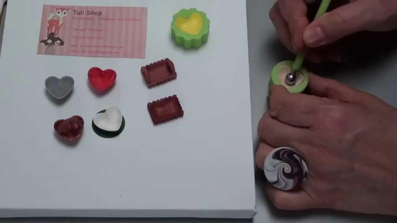 4(Tuto Fimo) kleine SCHÄLCHEN, MOLD Polymer Clay