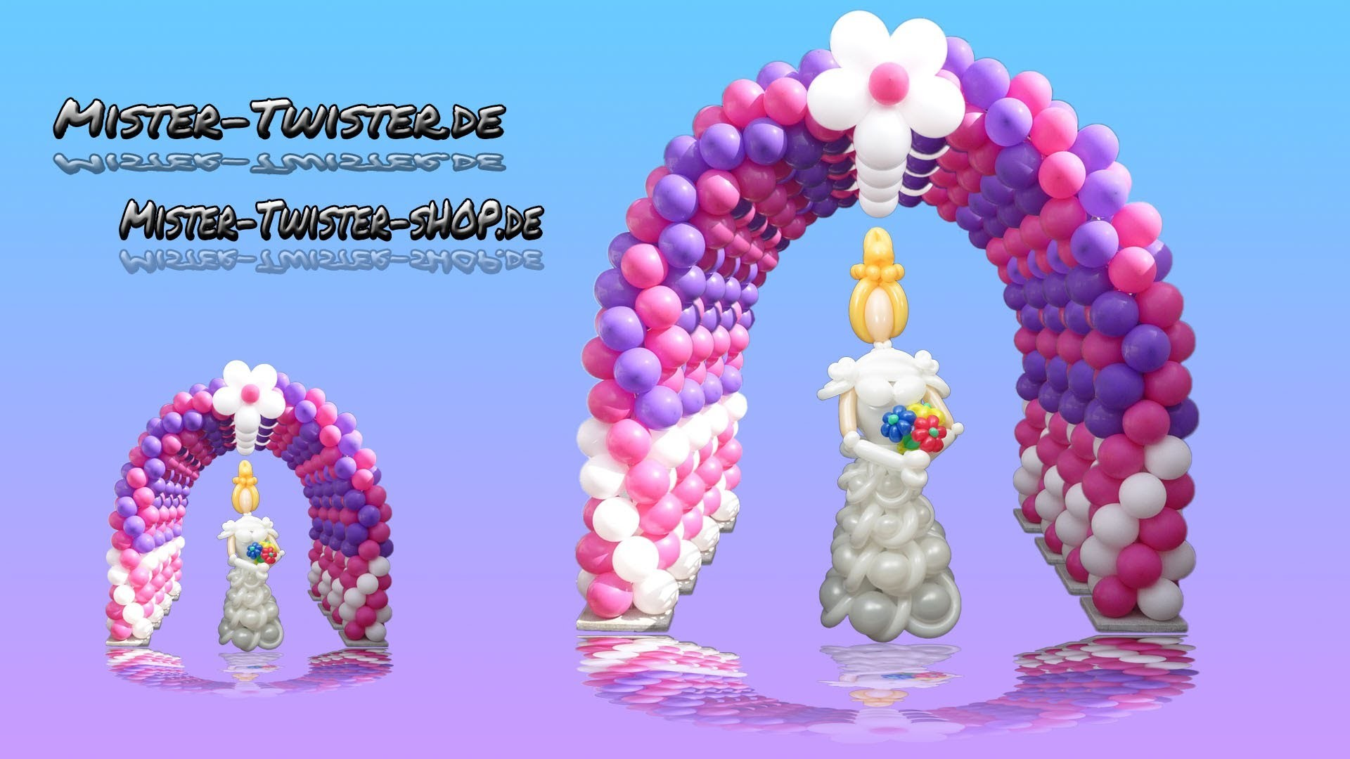 Balloon arch  decoration, Ballon Bogen Dekoration, Modellierballon Ballonfiguren