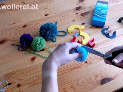 Bommel machen mit dem Pompon Set von Prym