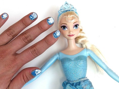 Disney Princess nail art tutorial - DIY Nageldesign Disney Eiskönigin - Inspiriert von frozen