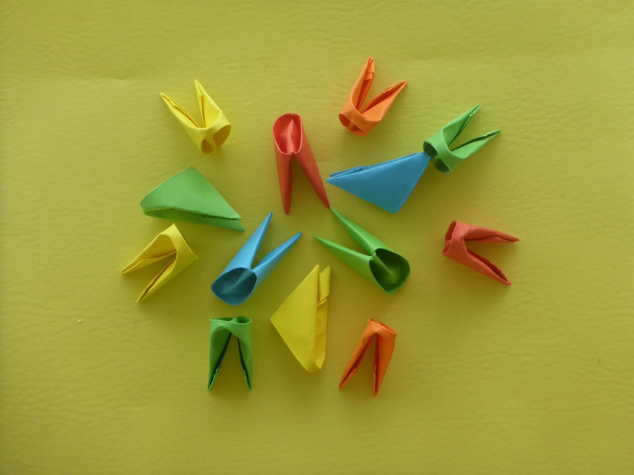 DIY Origami Module deutsche Anleitung, Tutorial