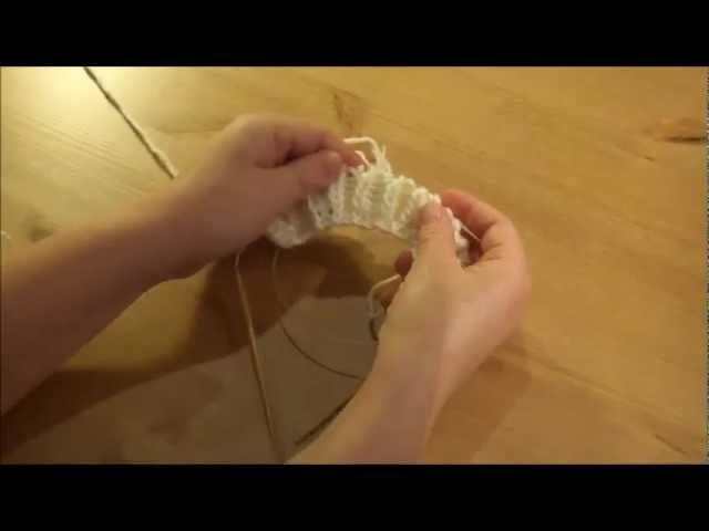Einen Schal stricken - Patentmuster - Teil 1