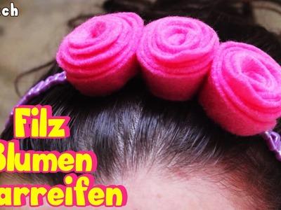 Filz Blumen Haarreifen | Kunst und Handwerk Deutsch | DIY German Arts & Crafts