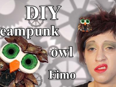 FIMO Steampunk Eule: Polymer Clay Owl - Tutorial [HD.DE] (EN-Sub)