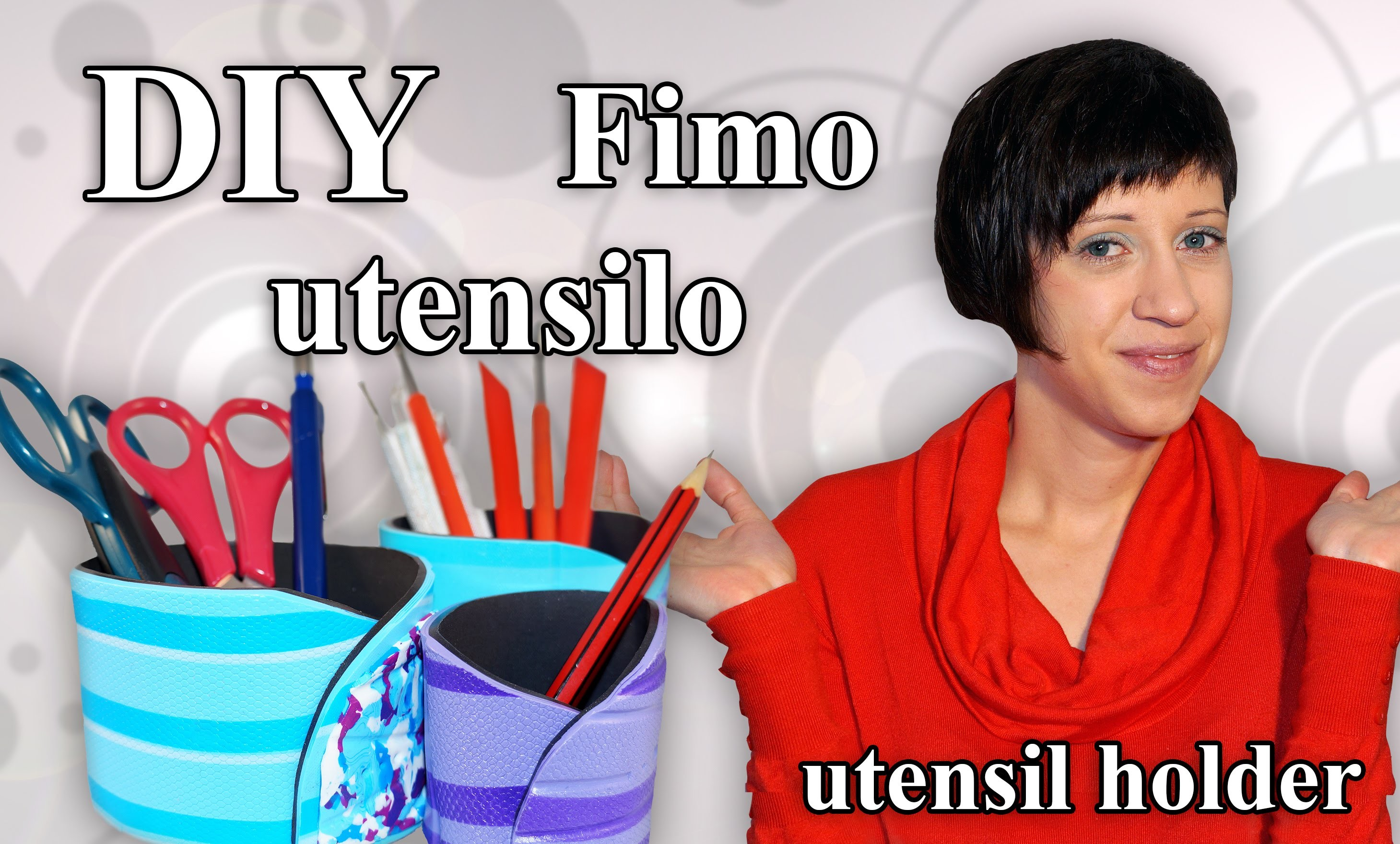 FIMO Utensilo: Polymer Clay Utensil Holder - Tutorial [HD.DE] (EN-Sub)