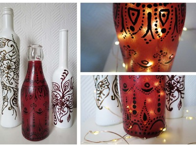 Flaschen bemalen * 2 Varianten * Painted Bottles DIY [eng sub]
