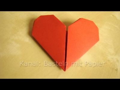 Herz Falten - Anleitung für Origami Herz - Geschenkideen basteln