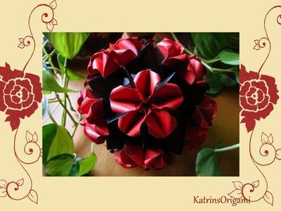 Origami ჱܓ Wild Rose ჱܓ Kusudama