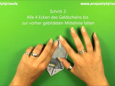 Origami Geldschein-Stern