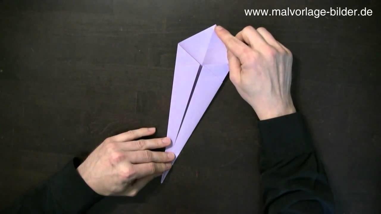 Origami Schwan Faltanleitung - Anleitung zum Falten