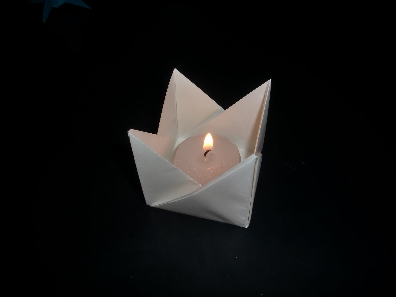 Origami Teelicht für Dummies: Teacandle Easy - Tutorial [HD.deutsch]