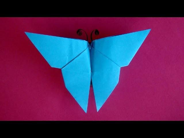 Schmetterling basteln mit Papier - einfaches Origami - Falten mit Kindern