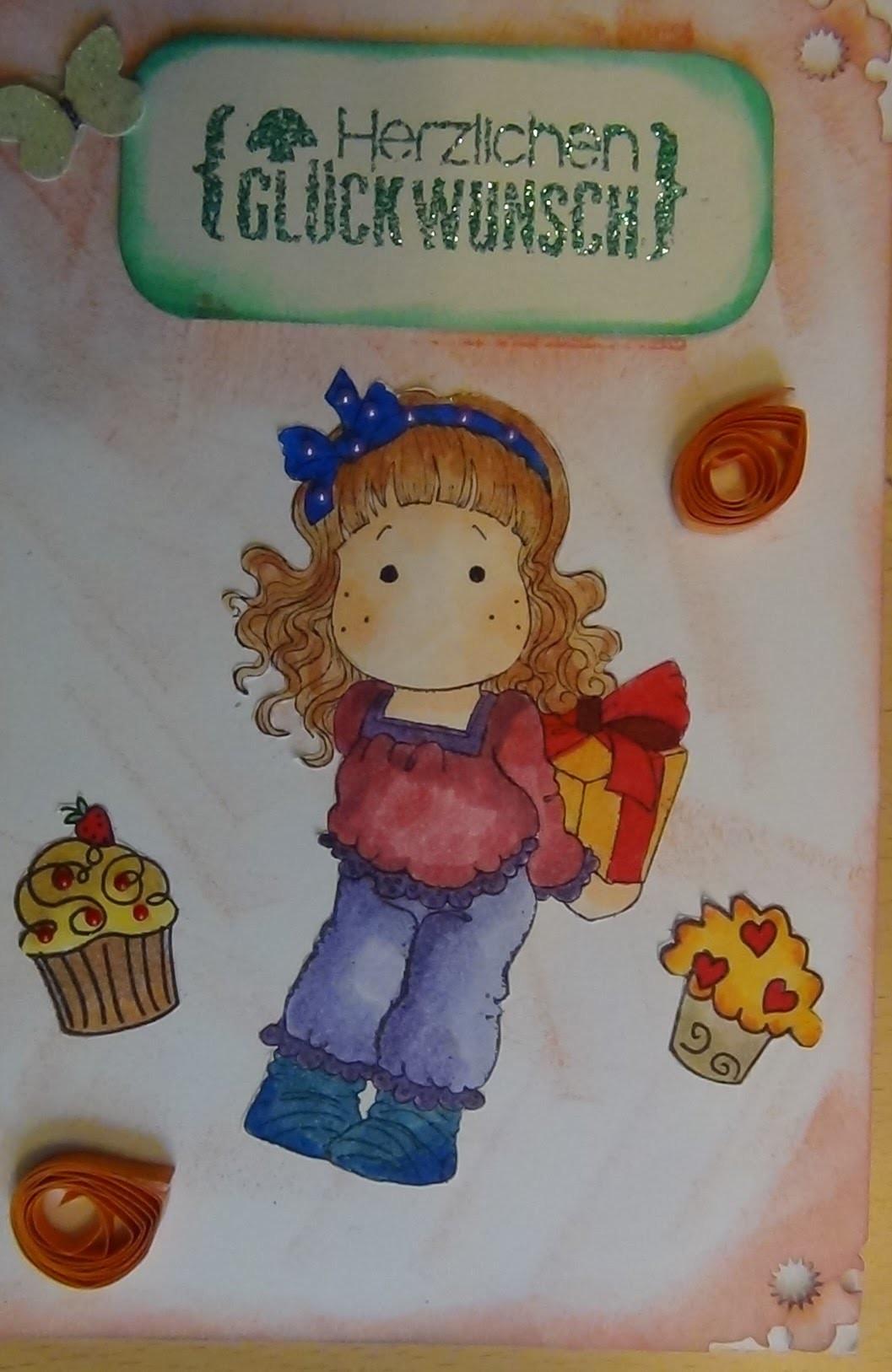 Scrapbook-Haul und wie ich daraus gleiche eine Geburtstagskarte gebastelt habe.