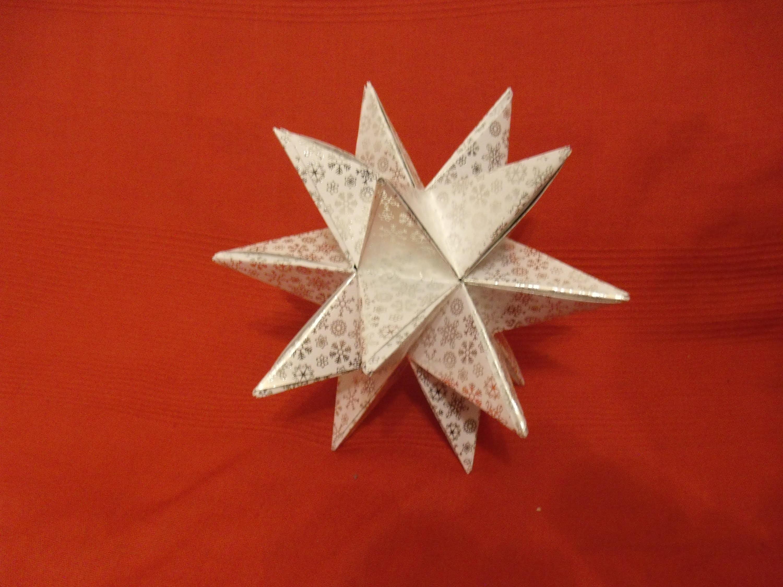 Aureliostern 3D Stern DIY (oder Tutorial) Origami