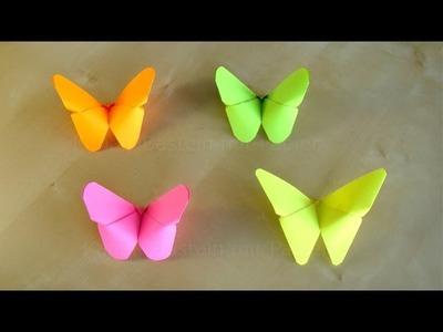 Basteln: Origami Schmetterling falten. Basteln mit Papier. Bastelideen