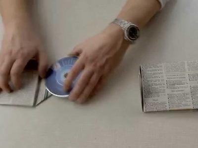 CD-. DVD- Doppelhüllen aus einem Blatt Papier