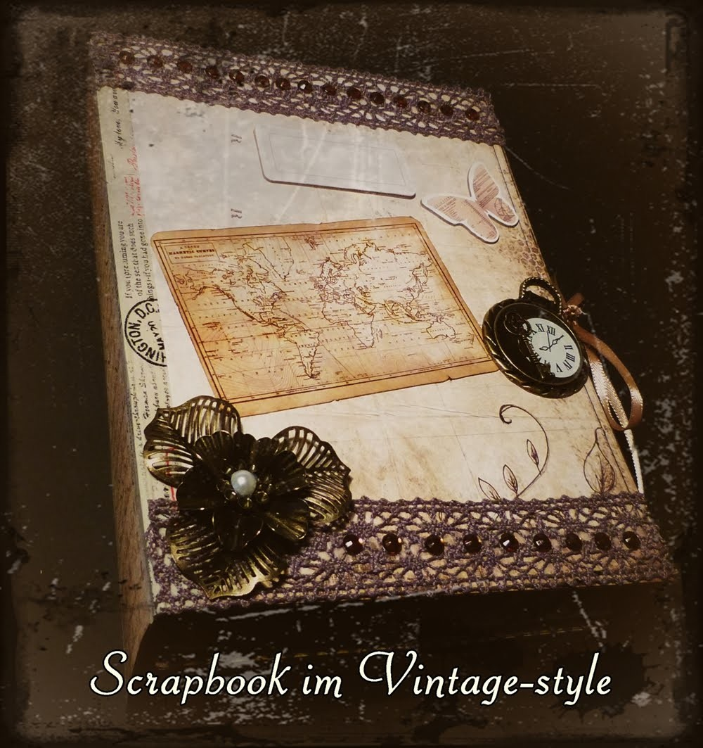 [Craft-Update] Scrapbook im Vintage-style