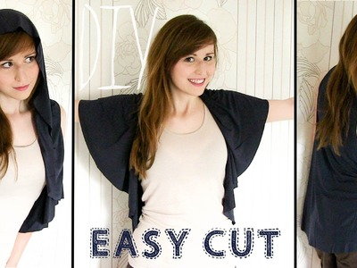 DIY ✂ Easy Cut - Circle Vest  (No Sew)