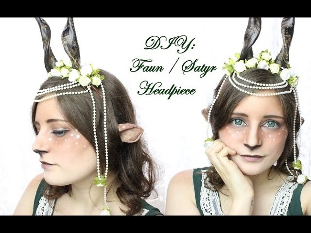 DIY: Faun. Satyr Hörner bzw  Headpiece Tutorial |