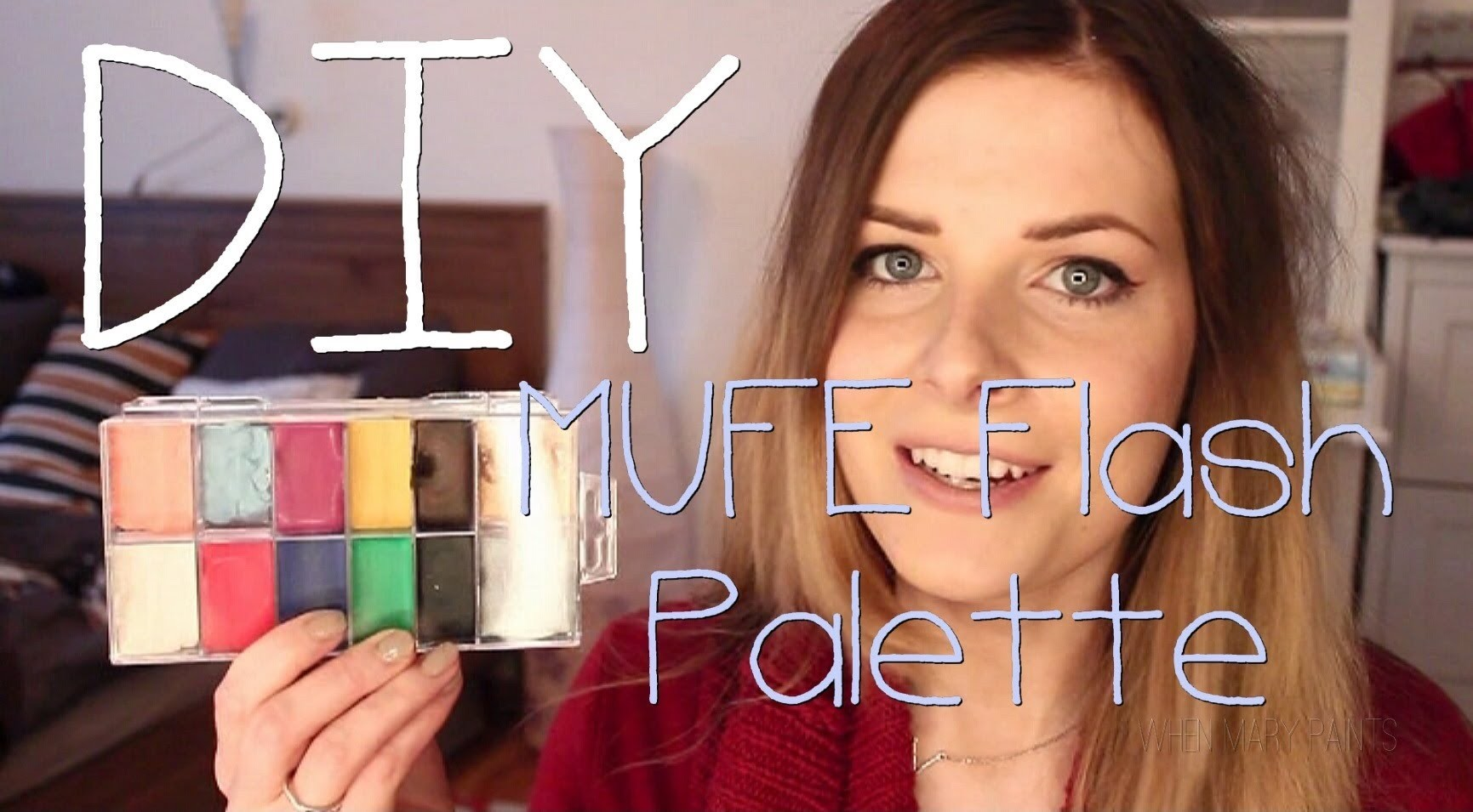 DIY MUFE Flash Palette Tutorial | WhenMaryPaints