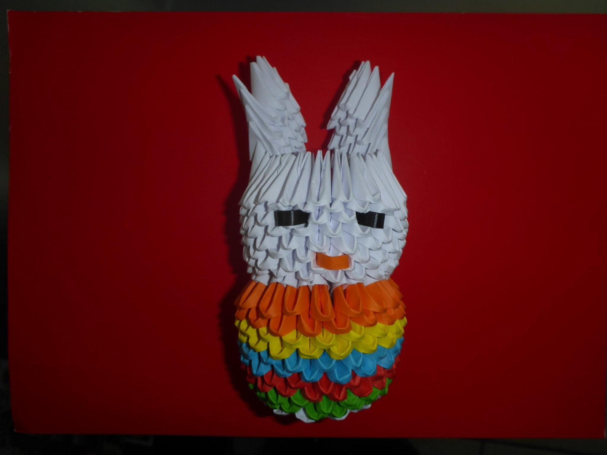 DIY Origami Osterhase Geschenk zu Ostern Tutorial Anleitung