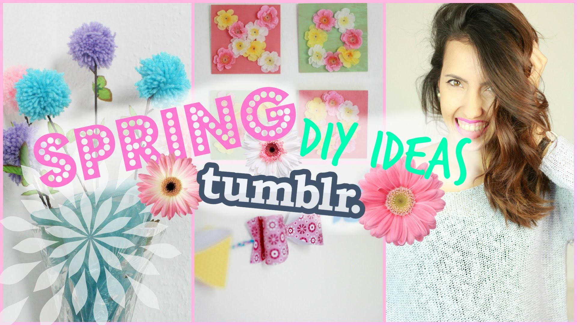 DIY Tumblr inspired Spring Room Decor