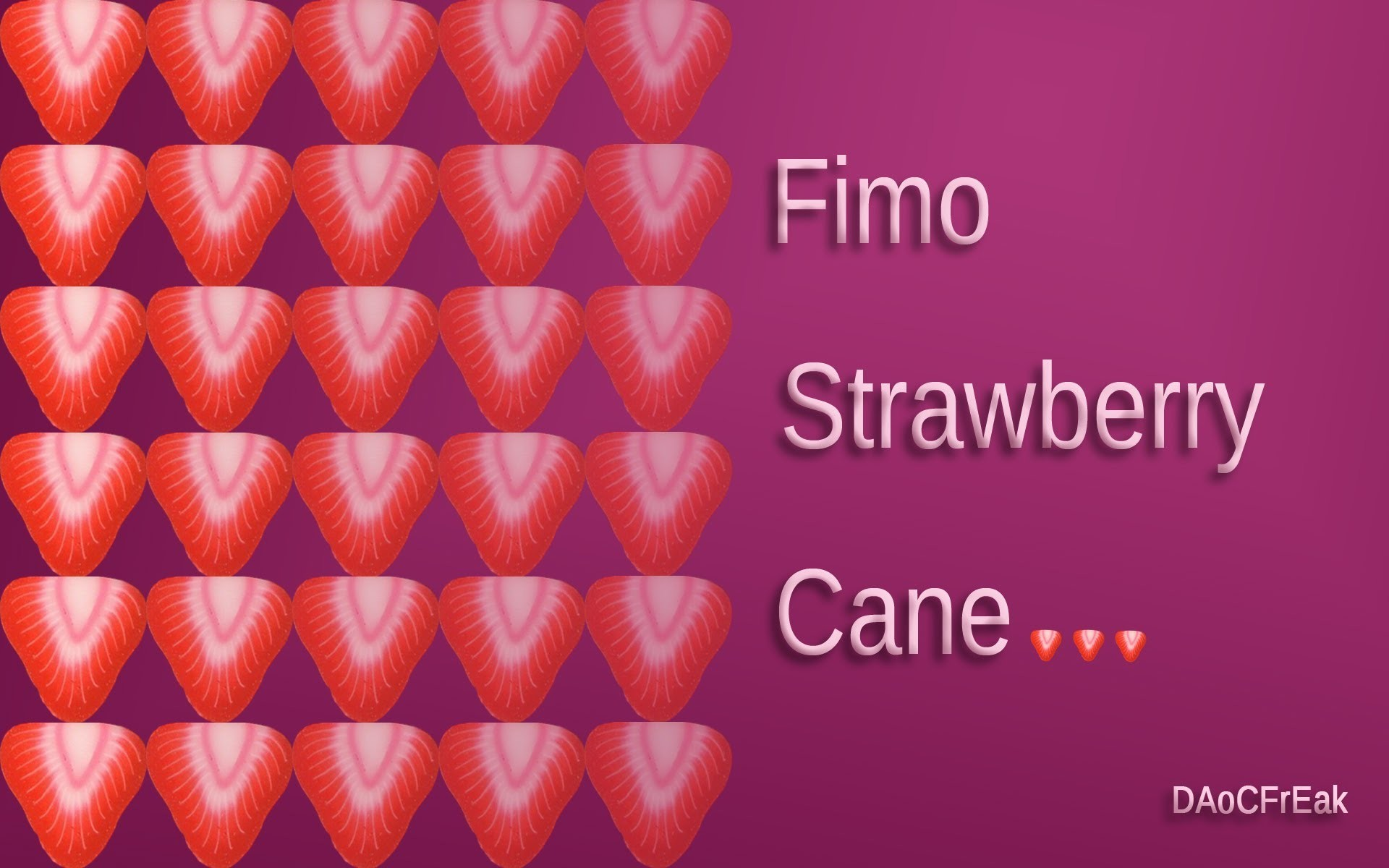 FIMO Cane Erdbeere: Polymer Strawberry Cane - Tutorial [HD.deutsch] (EN-Sub)