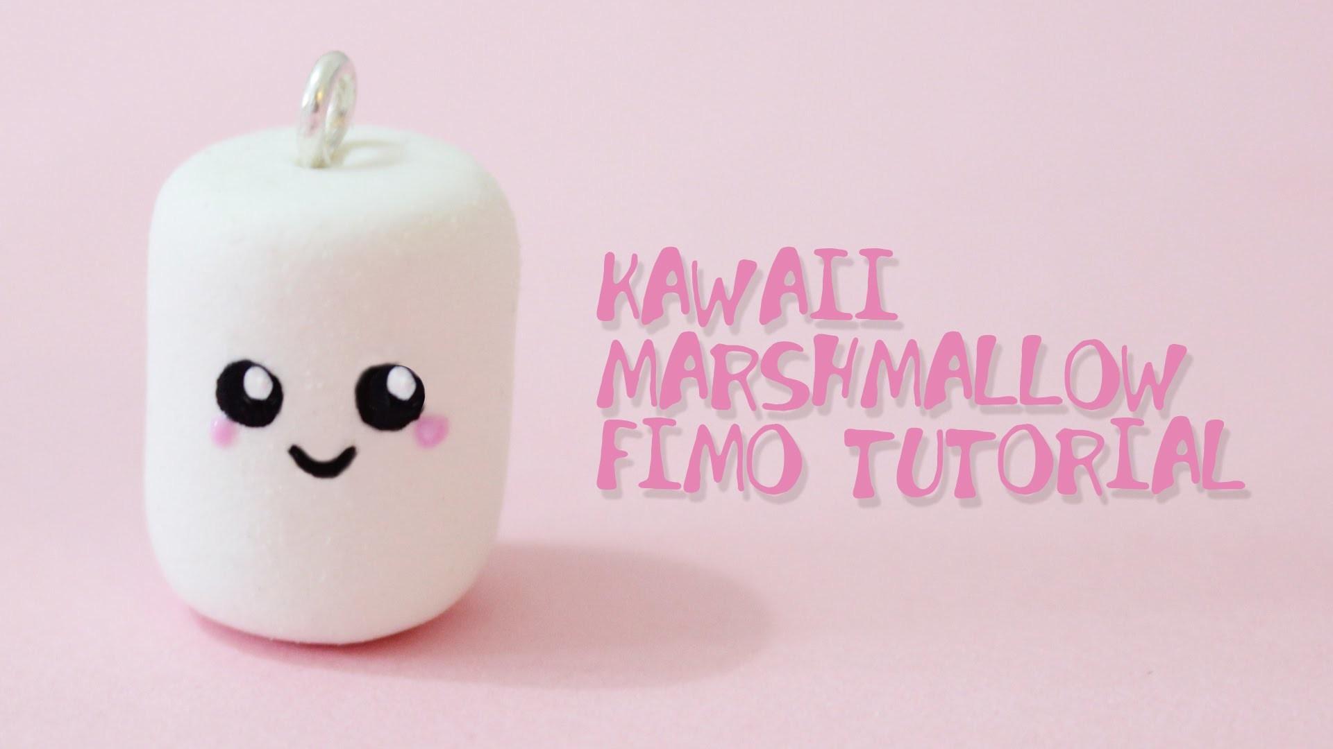 [Fimo Friday] Kawaii Marshmallow Fimo Tutorial. Kawaii Marshmallow polymer clay | Anielas Fimo
