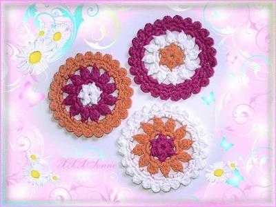 Häkelblumen Häkelbutton Handarbeit Crochet Häkeln