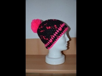 Häkeln - Mütze aus HATNUT Gaudy von Pro Lana