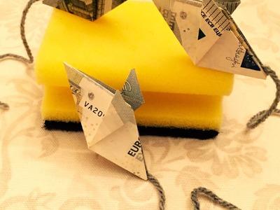 Maus falten - Geld falten - Geldgeschenk - Origami Geschenke