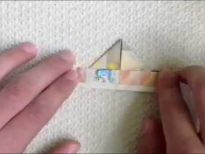 Origami: Geld-Schiff Basteln mit einem Geldschein