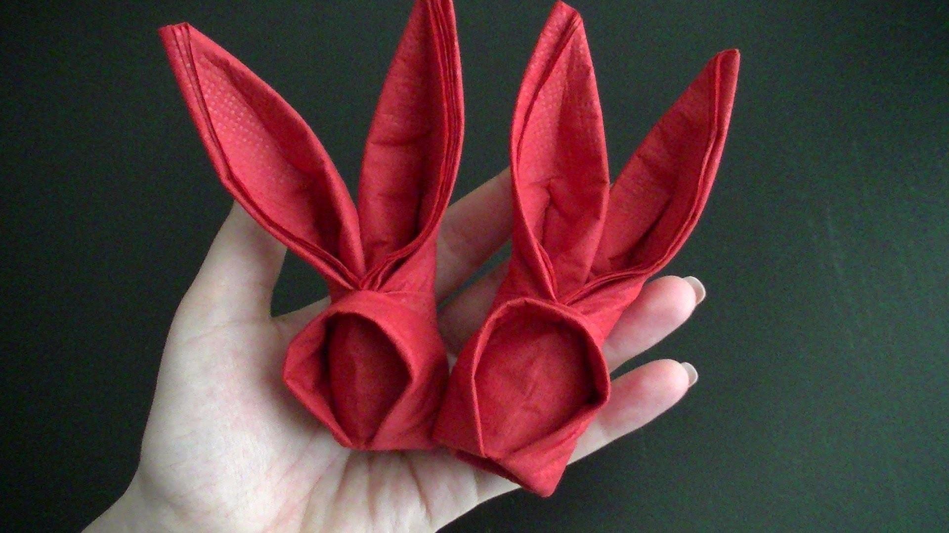 Origami Hase aus Servietten zu Ostern - sehr schnell gemacht - Freude für Kinder :-)