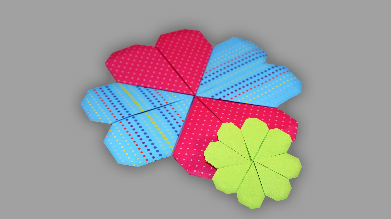 Origami Kleeblatt - Faltanleitung (Live erklärt)