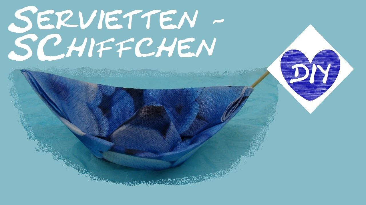 Schiffchen Falten DIY. Servietten Falten Falttechnik. Ship Folding DIY Tutorial