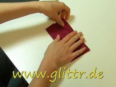 Servietten falten - Bestecktasche