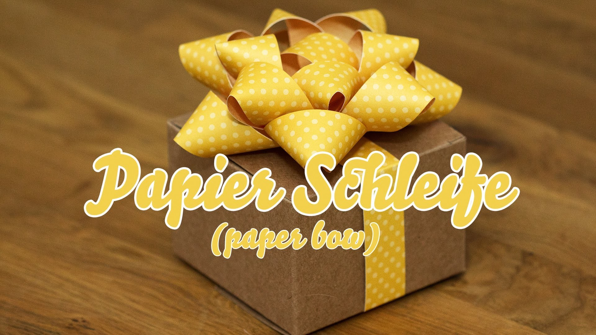 Tutorial - Papierschleife - paper bow