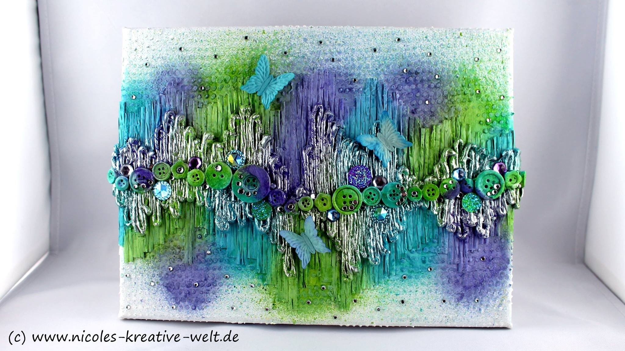 "[Watch me Craft #3] Mixed Media Canvas ""up & down"" 