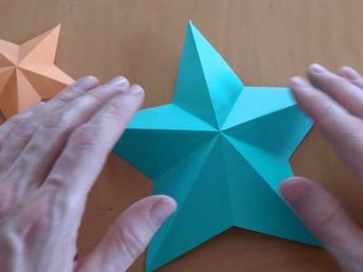 Wie falte ich einen Pentagramm Stern? Origami Anleitung