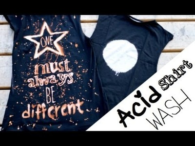 ACID WASHED SHIRT ★| DIY Tutorial