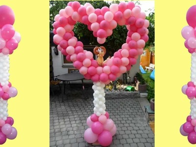 Ballondekoration, balloon lionheart, Ballon Löwenherz, balloon decoration, lion heart, Löwe Herz