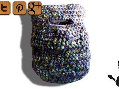 Basketweave Tasche Häkelanleitung - © Woolpedia