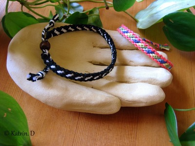 Bordered Candy Stripe Friendship Bracelet