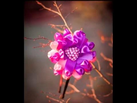 Цветок Канзаши - Kanzashi schöne Blume mit Haarreifen- cute kanzashi flower