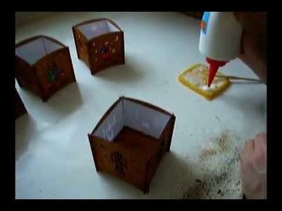 DAMASU Bastelanleitung Teelichtwürfel