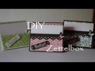 [DIY]  ♡ Bastel Tutorial ♡  Zettelbox ♡